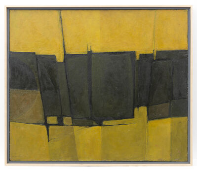 Alan Reynolds, 'Yellow, Green and Black Forms', 1959