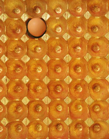 He Xiangyu, '1500g Gold, 62g Protein (detail)', 2013-2014