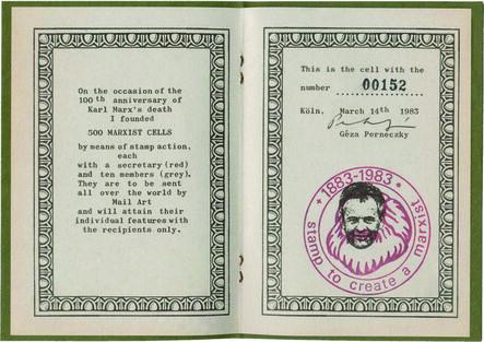 Géza Perneczky, 'Marx Test (Booklet)', 1983