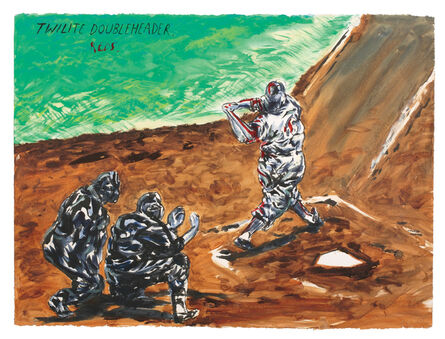 Raymond Pettibon, 'Untitled (Twilight Doubleheader Reds...)', 2010