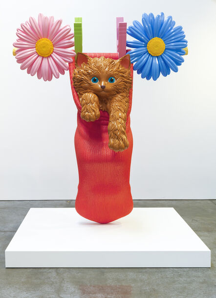 Jeff Koons, 'Cat on a Clothesline (Red)', 1994-2001
