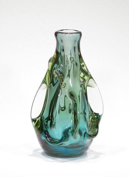 Dominick Labino, 'Untitled vessel, green, 12.1978', 1978