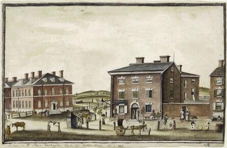 Anne-Marguerite Hyde de Neuville, 'The Corner of F Street', 1817