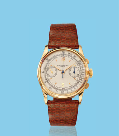 Patek Philippe, 'Yellow gold oversized chronograph wristwatch, ref. 530', ca. 1940