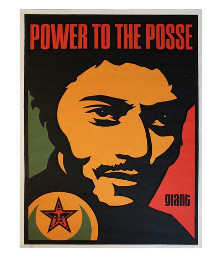 Shepard Fairey, 'Nubian Power to the Posse', 1998