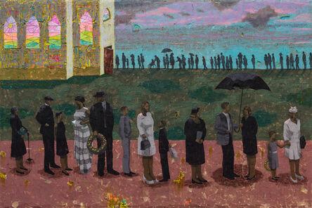 Derek Fordjour, 'Procession (After Ellis Wilson)', 2020