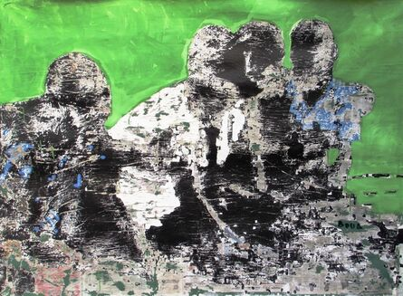 Armand Boua, 'Les Badés (Les amis)', 2017