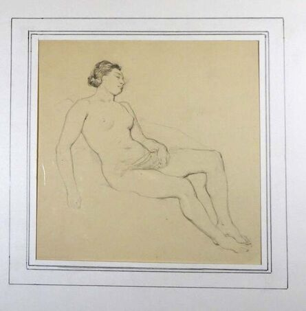Horace Vernet, 'Femme Nue', Mid 1800
