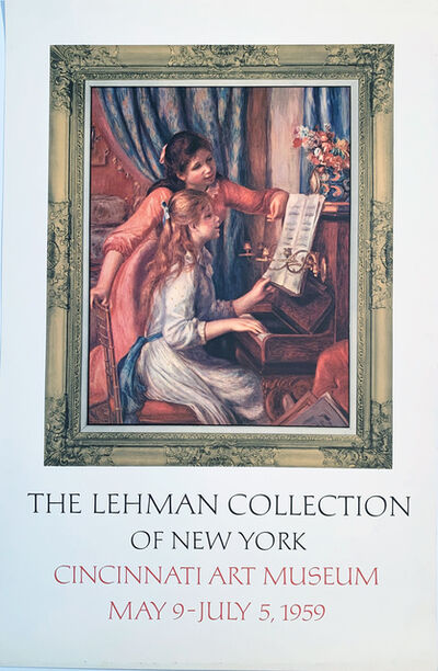 Pierre-Auguste Renoir, 'The Lehman Collection of New York, Cincinnati Art Museum, May 9-July 5 Rare Poster', 1959