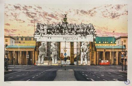 JR, 'Giants, Brandenburg Gate, September 27, 2018, 18h55, © Iris Hesse, Ullstein Bild, Roger-Viollet, Berlin, Germany, 2018', 2020