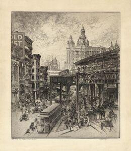 Curt Szekessy, 'Chatham Square, New York', 1920