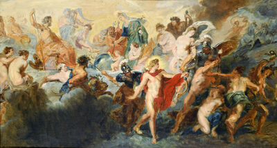 """Pierre-Auguste Renoir, 'Copy after """"The Council of the Gods"""" by Peter Paul Rubens', 1861"""