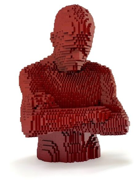 Nathan Sawaya, 'Dark Red Pensive', 2018