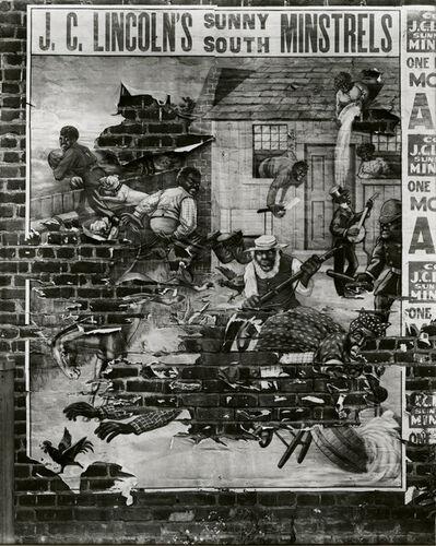 Walker Evans, 'Minstrel Showbill', 1936