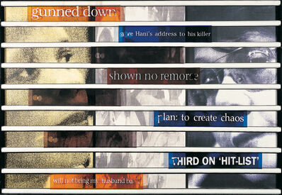 Sue Williamson, 'Truth Games: Limpho Hani – No Remorse – Gail Derby-Lewis', 1998