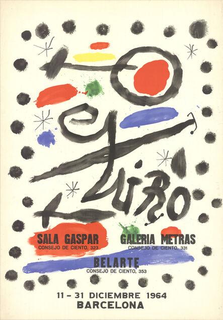 Joan Miró, 'Sala Gaspar-Galeria Metras-Belarte, 1964', 1964