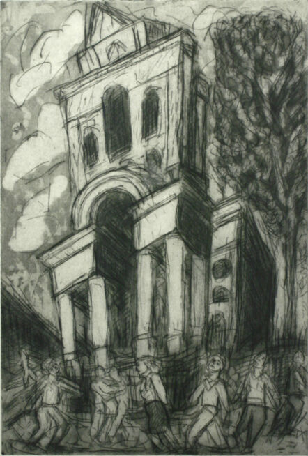 Leon Kossoff, 'Christchurch, Summer', 1989-1992