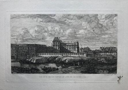 Charles Meryon, 'The Old Louvre, Paris, after Zeeman', 1866