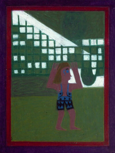 eddie arning, 'Untitled (Girl in Swimsuit and Green)', 1968-1970
