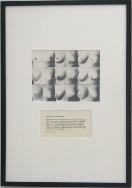 Martha Wilson, 'Breast Forms Permutated', 1972/2008