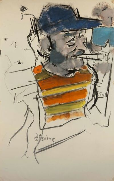 Jack Levine, 'Sunday Afternoon', 1972