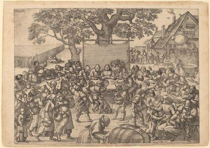 Peter van der Borcht, 'The Large Rustic Wedding Feast', 1560