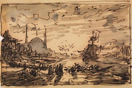 Félix Ziem, 'Constantinople, Sunset over the Bosphorus', 1880-1890