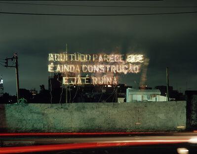 """Cerith Wyn  Evans, 'Aqui tudo parece que é ainda construção e já é ruína, a partir de """"Fora da Ordem"""" de Caetano Veloso', 2004"""