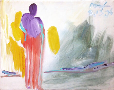 Peter Max, 'ANGEL (YELLOW WINGS)', 1998