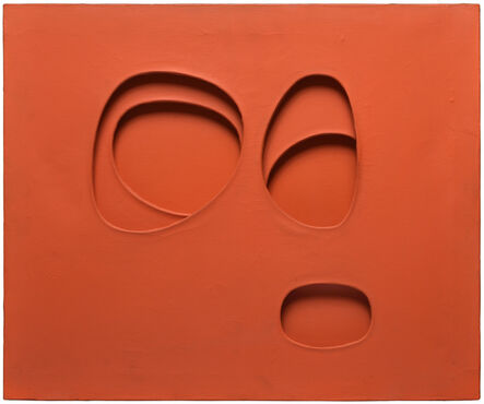 """Paolo Scheggi, '""""per una situazione"""", rosso arancio', 1963"""