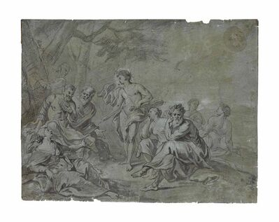 Circle of Jan Boeckhorst, 'The contest between Apollo and Marsyas'
