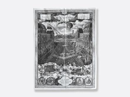 JR, 'JR au Louvre - feuille pliée', 2019