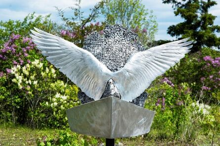 Dale Dunning, 'Odyssey - abstracted, repurposed metal, narrative, figurative outdoor sculpture', 2016