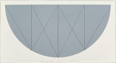 Robert Mangold (b.1937), '1/2 Brown Curved Area, Series X', 1968