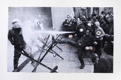 Tue Greenfort, 'milk demonstration', 2014