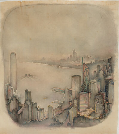 Xu Jianguo 徐健國, 'The first glimmer of dawn on Hong Kong Harbour 港灣晨曦', 2016