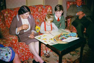 Geoffrey Valentine, 'Colouring In with Nanna', 1963
