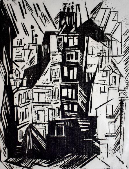 Lyonel Feininger, 'Parisian Houses   Pariser Häuser', 1920-1927