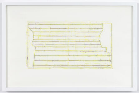 Julia Fish, 'Trace 1: after Threshold SouthEast [Spectrum: Yellow]', 2010