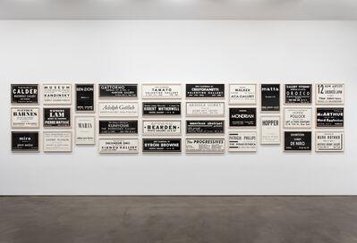Fernando Bryce, 'ARTnews 1944-1947', 2015