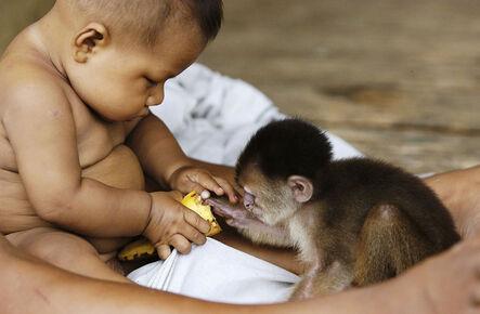 Attila Lorant, 'Sharing (Boy and Monkey)', 2004