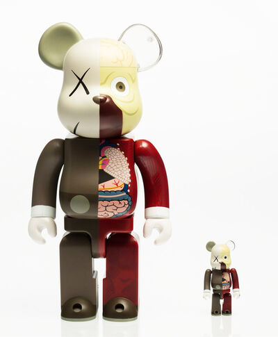KAWS, 'Dissected Companion: Bearbrick 400% & 100% (Red)', 2010