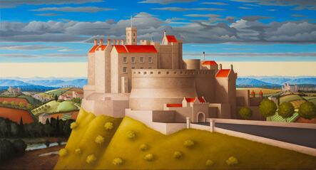 Renny Tait, 'Edinburgh Castle Red Roofs', 2021