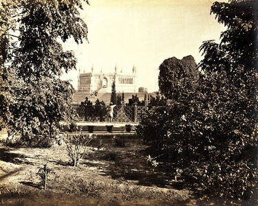 Samuel Bourne, 'Cawnpore (Kanpur), a View of the Memorial Place from the South', 1865, 66 / 1865, 66
