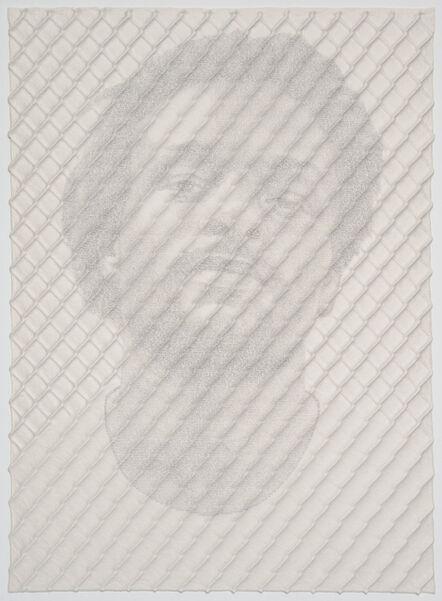 Ben Durham, 'Chain-link Fence Portrait (John)', 2017