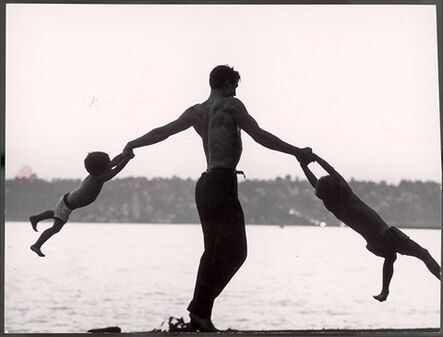 John Dominis, 'Jaques d'Amboise Playing with his children, Seattle', 1962