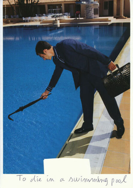 Claude Closky, 'To die in a swimming pool', 2009
