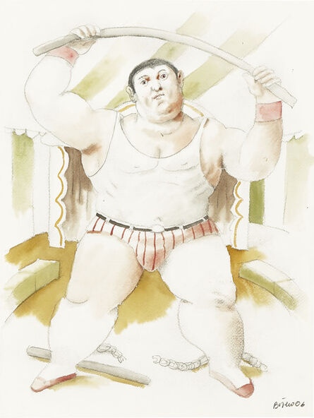Fernando Botero, 'Circus Strongman', 2006