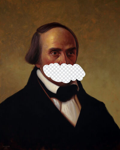 Shawn Huckins, 'The Truth Is An Arbitrary Thing (Daniel Webster, White House Art Collection Erasure No. 17)', 2018