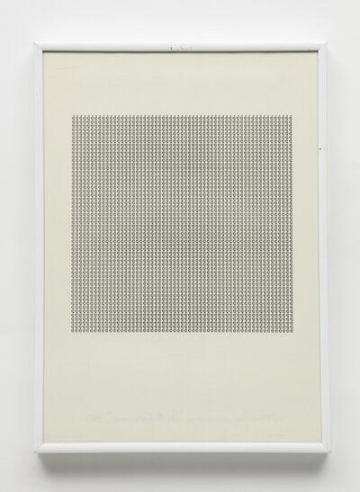 Maurizio Nannucci, 'Dattilogramma è', 1965